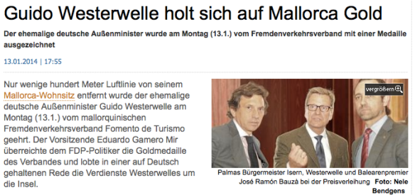 Screenshot Copyright Mallorca Zeitung