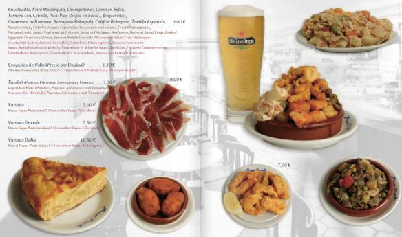 Auszug aus der Speisekarte. © Bar Bosch