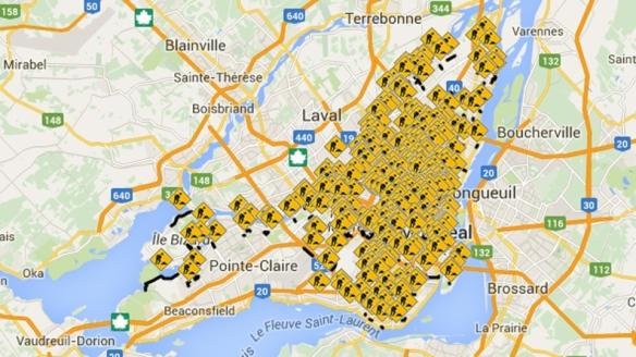 """Jeder Punkt eine Baustelle. Bildrechte"""" Vill de Montréal"""